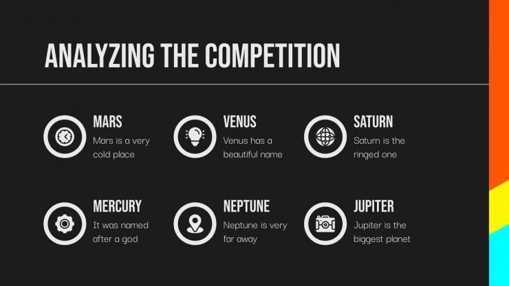 Happy V Signs Social Media presentation template