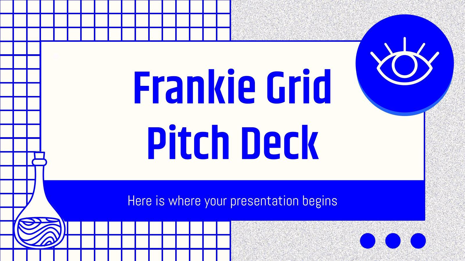 Plantilla de presentación Pitch deck Frankie con rejillas