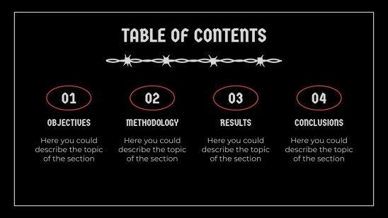 Plantilla de presentación Defensa de tesis estilo cable negro