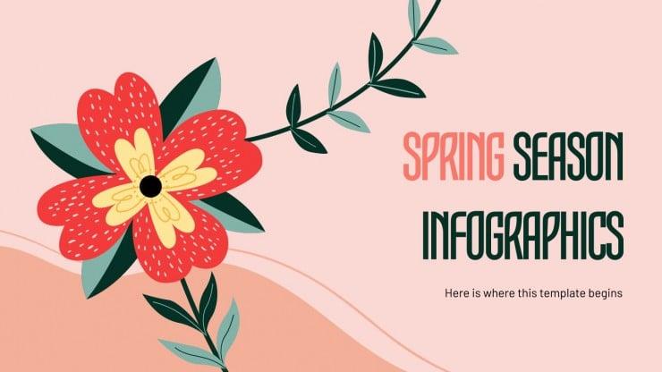 Frühlings-Infografiken
