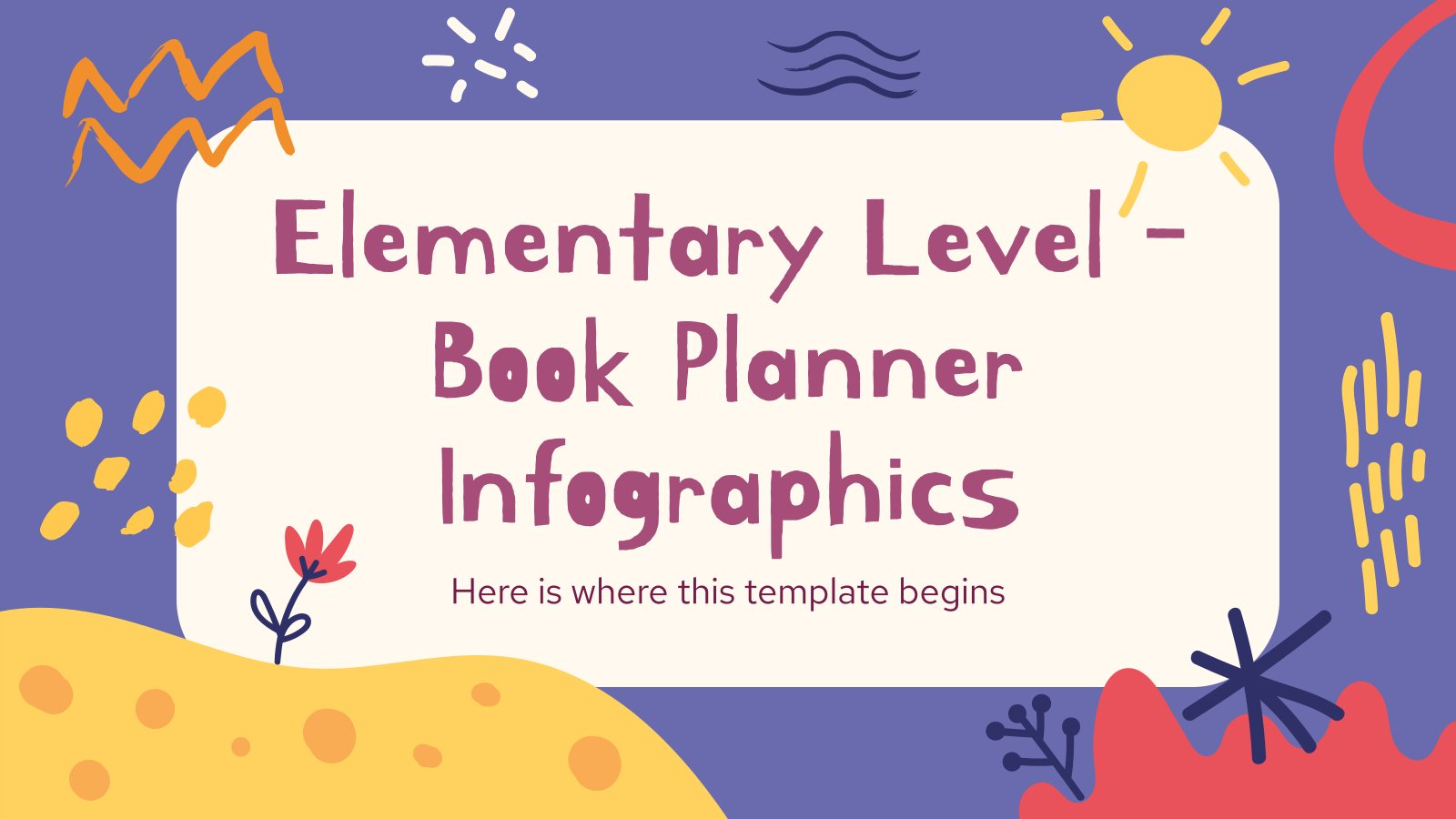 Elementarstufe - Buchplaner Infografiken Präsentationsvorlage