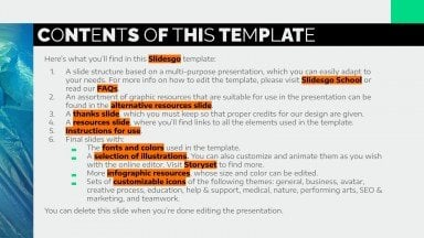 Cool Design Slides for Marketing presentation template