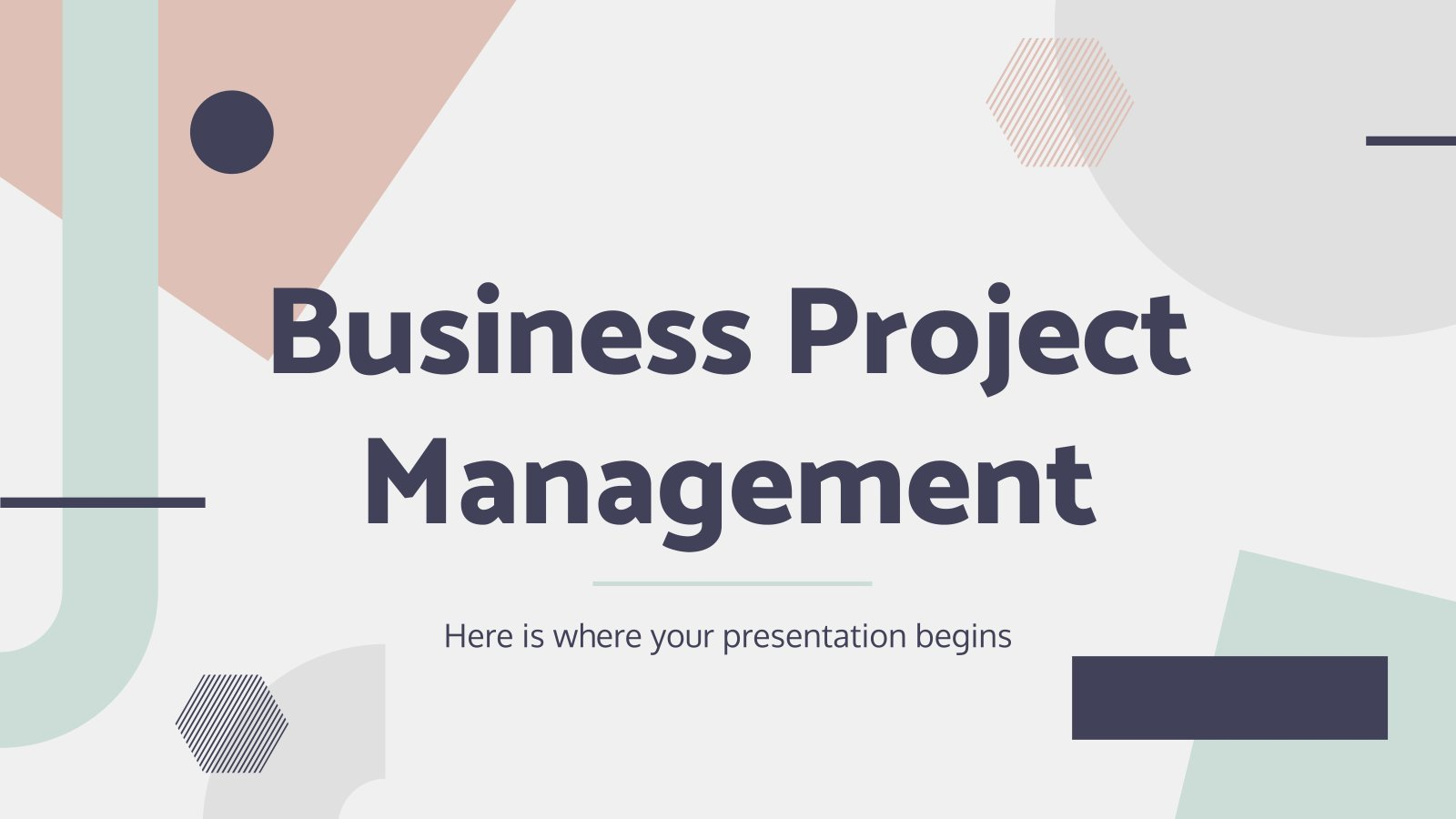 Business Project Management presentation template