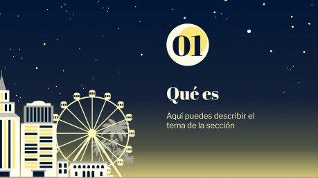 La Noche En Blanco Präsentationsvorlage