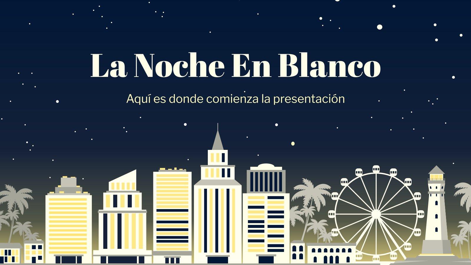 Plantilla de presentación La Noche En Blanco