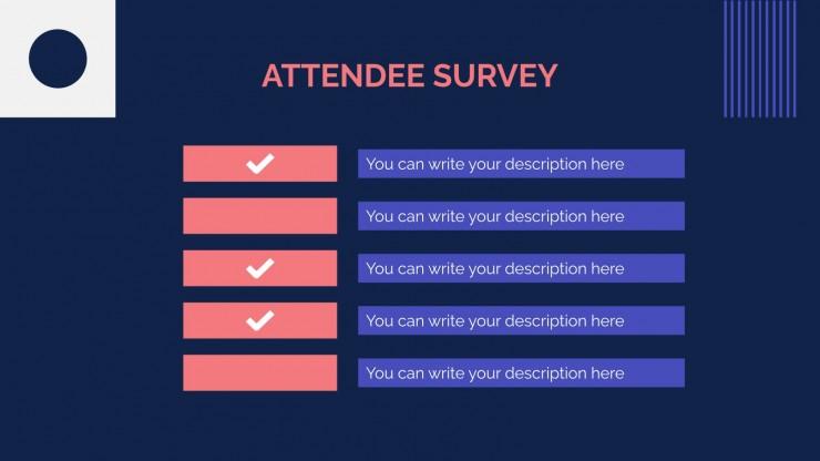 Modelo de apresentação Relatório de reunião pós-evento