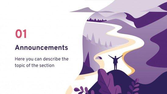 Bulletin d'information du camping : Modèles de présentation