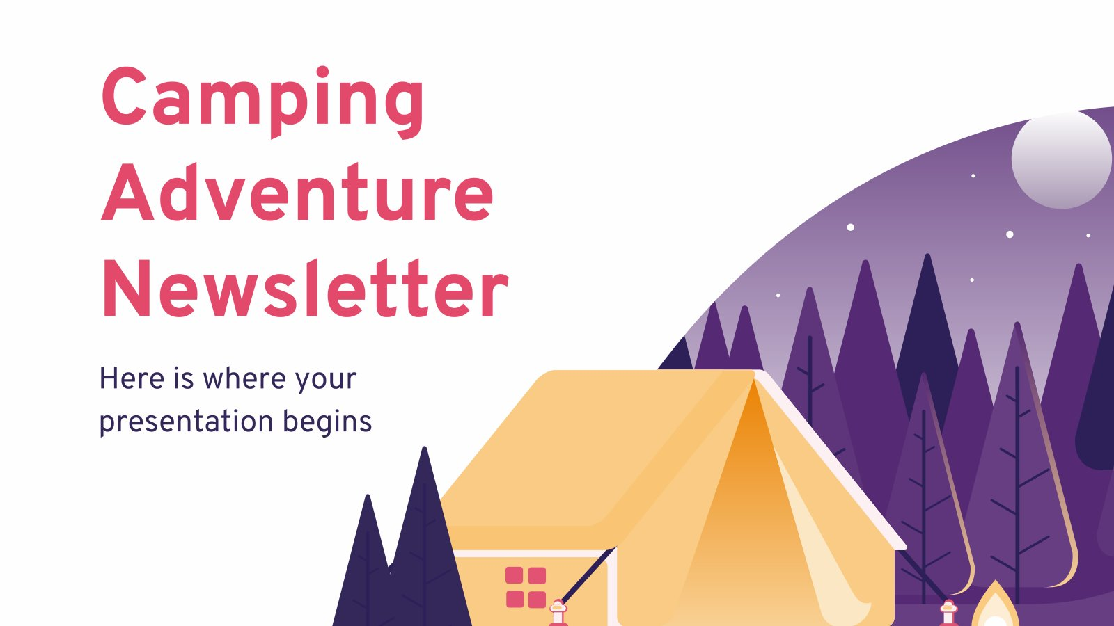 Camping Adventure Newsletter presentation template