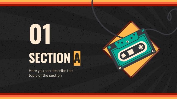 Atelier style cassette : Modèles de présentation
