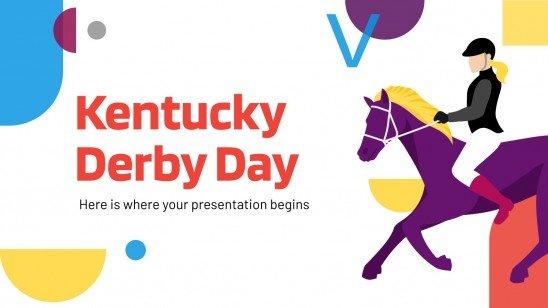 Modelo de apresentação Dia do Derby do Kentucky