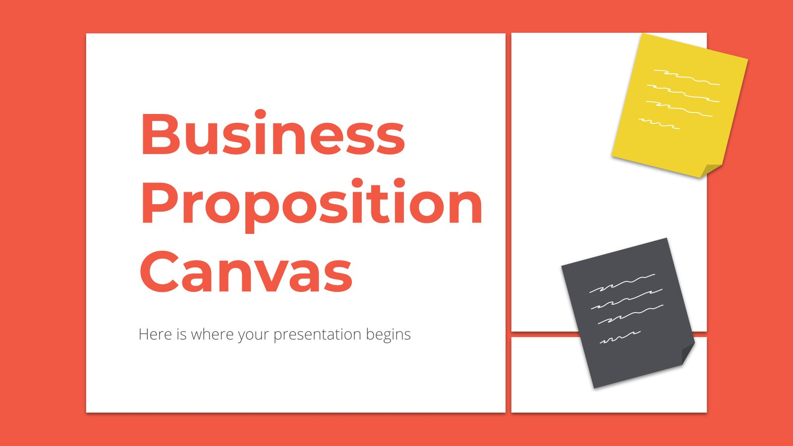 Business Proposition Canvas presentation template