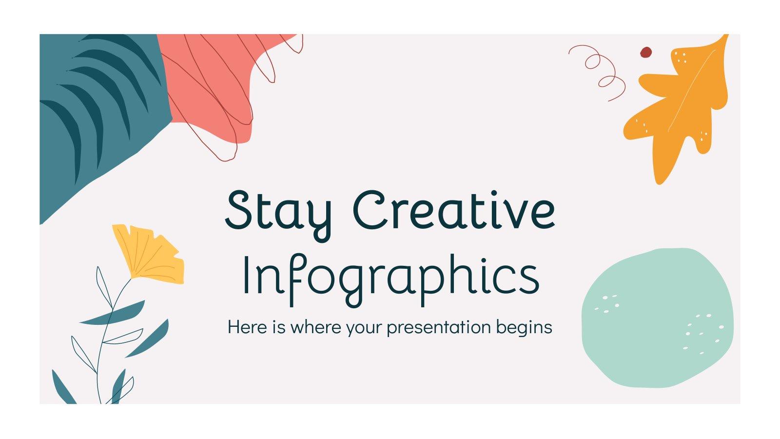 Plantilla de presentación Infografías de creatividad en casa