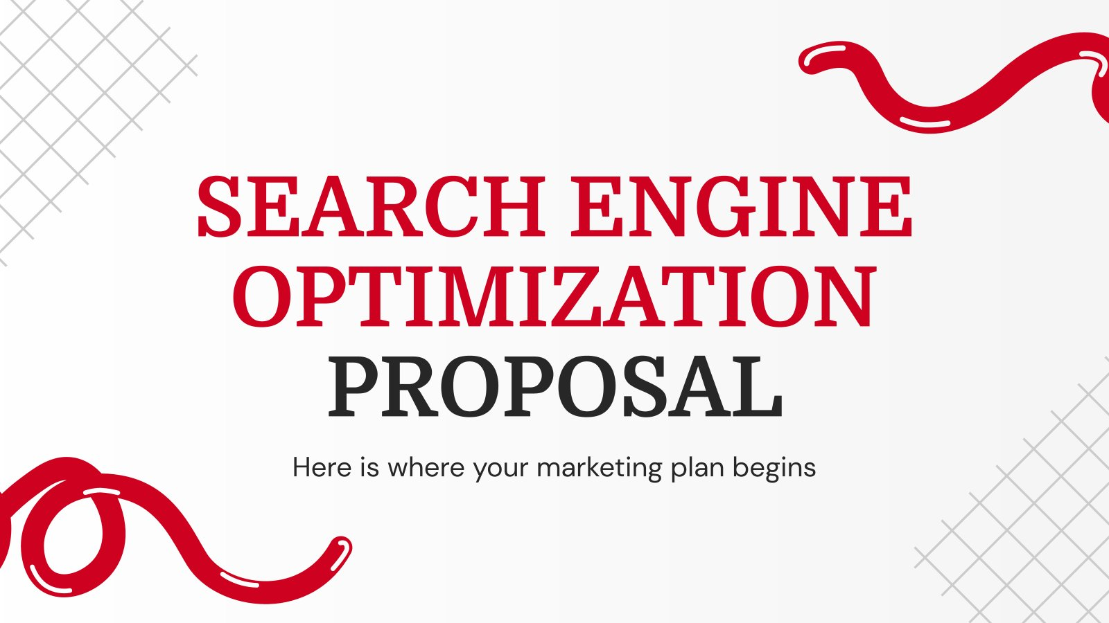 Search Engine Optimization Proposal presentation template