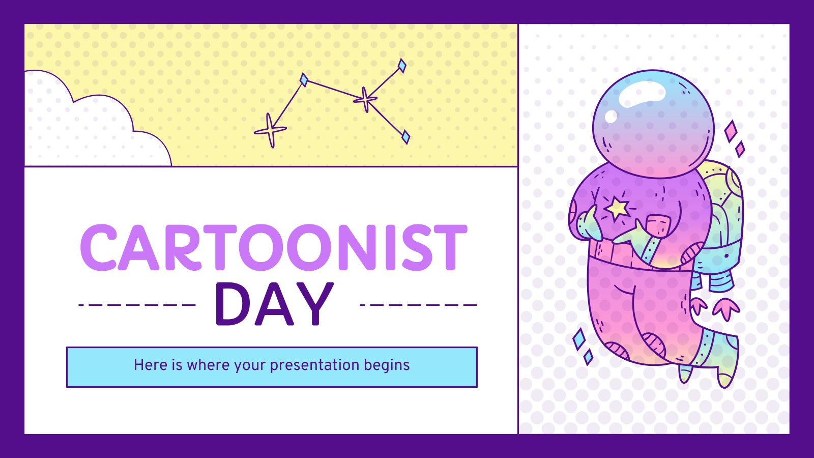Cartoonist Day presentation template