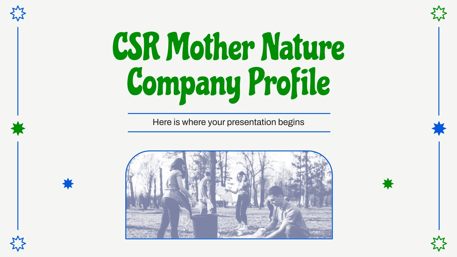 CSR Mother Nature Company Profile presentation template
