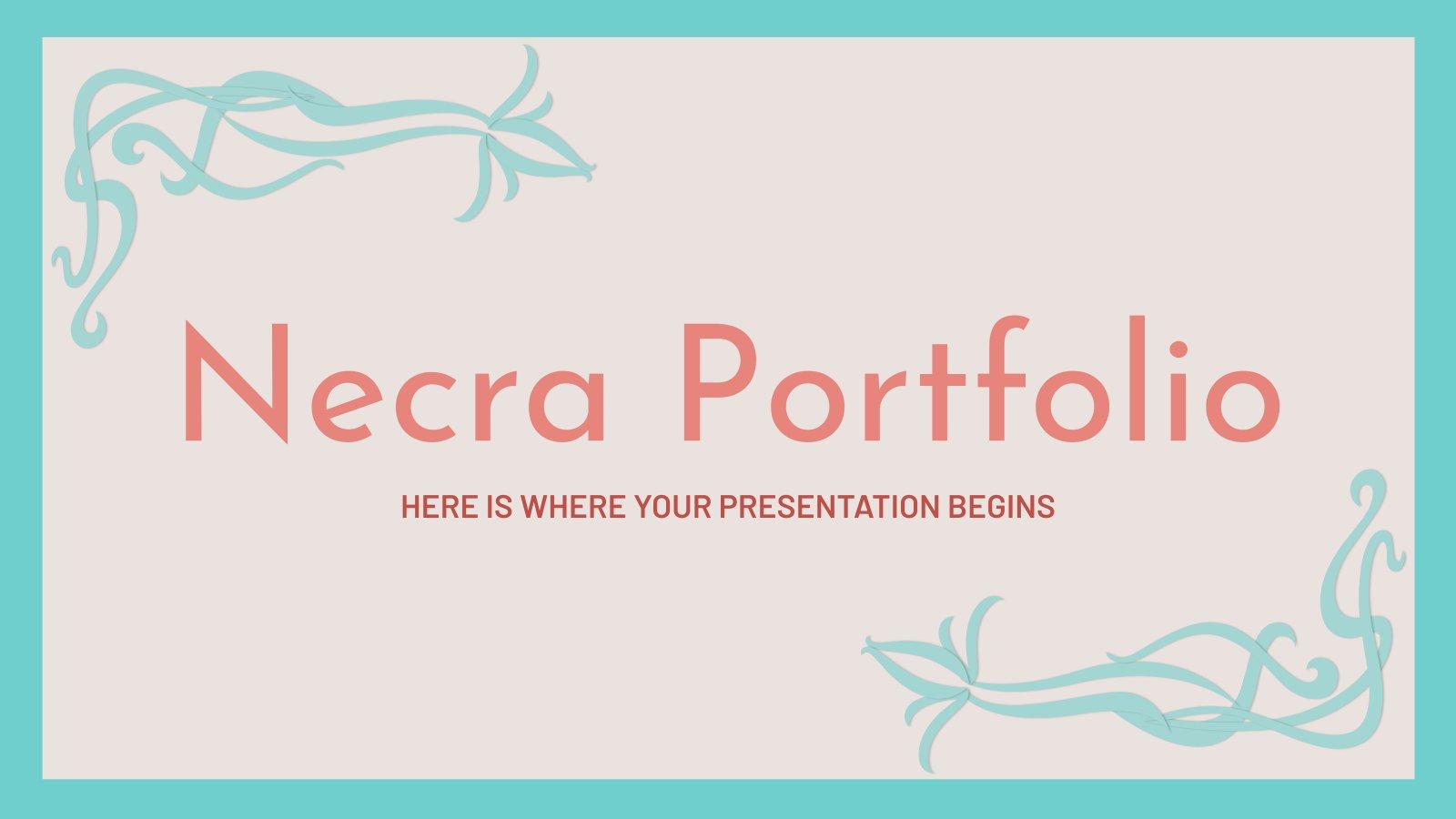 Plantilla de presentación Portafolio Necra