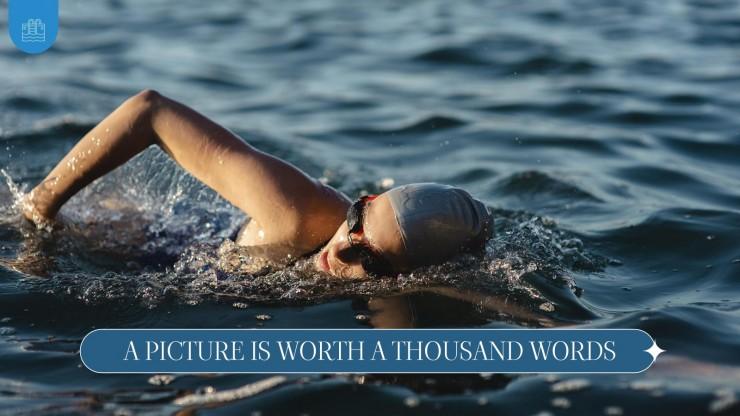 Modelo de apresentação Dia do Aprender a Nadar