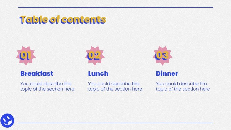 Eat What You Want Day presentation template