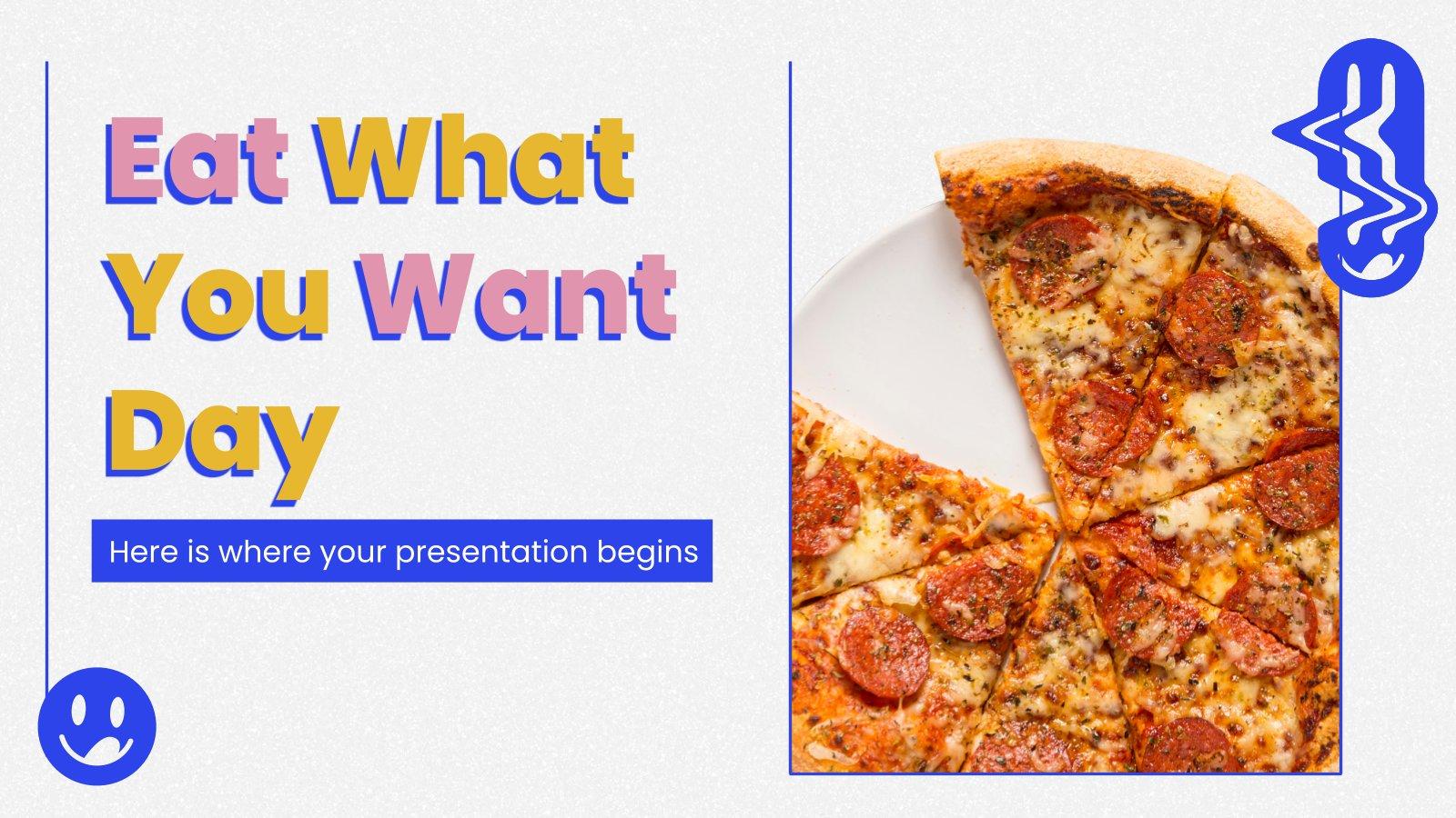 Modelo de apresentação Dia do Comer o que Você Quiser