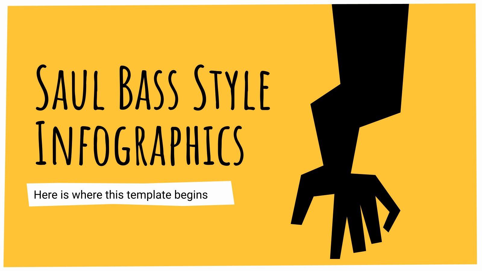 Saul Bass Style Infographics presentation template