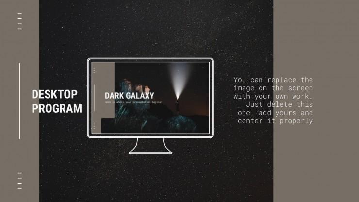 Plantilla de presentación Galaxia oscura