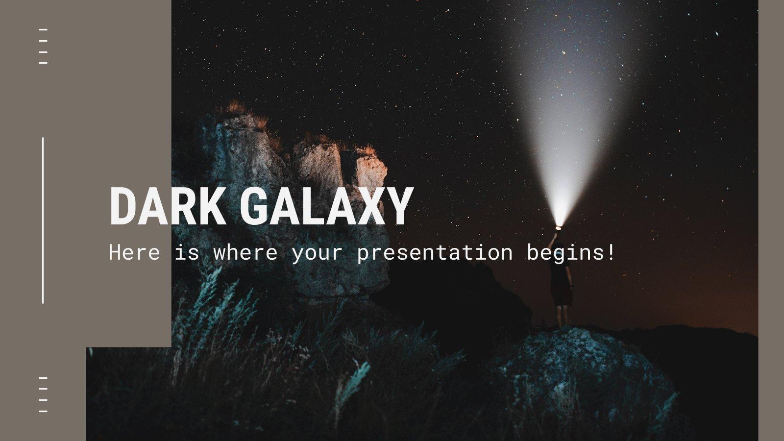 Dunkle Galaxis Präsentationsvorlage