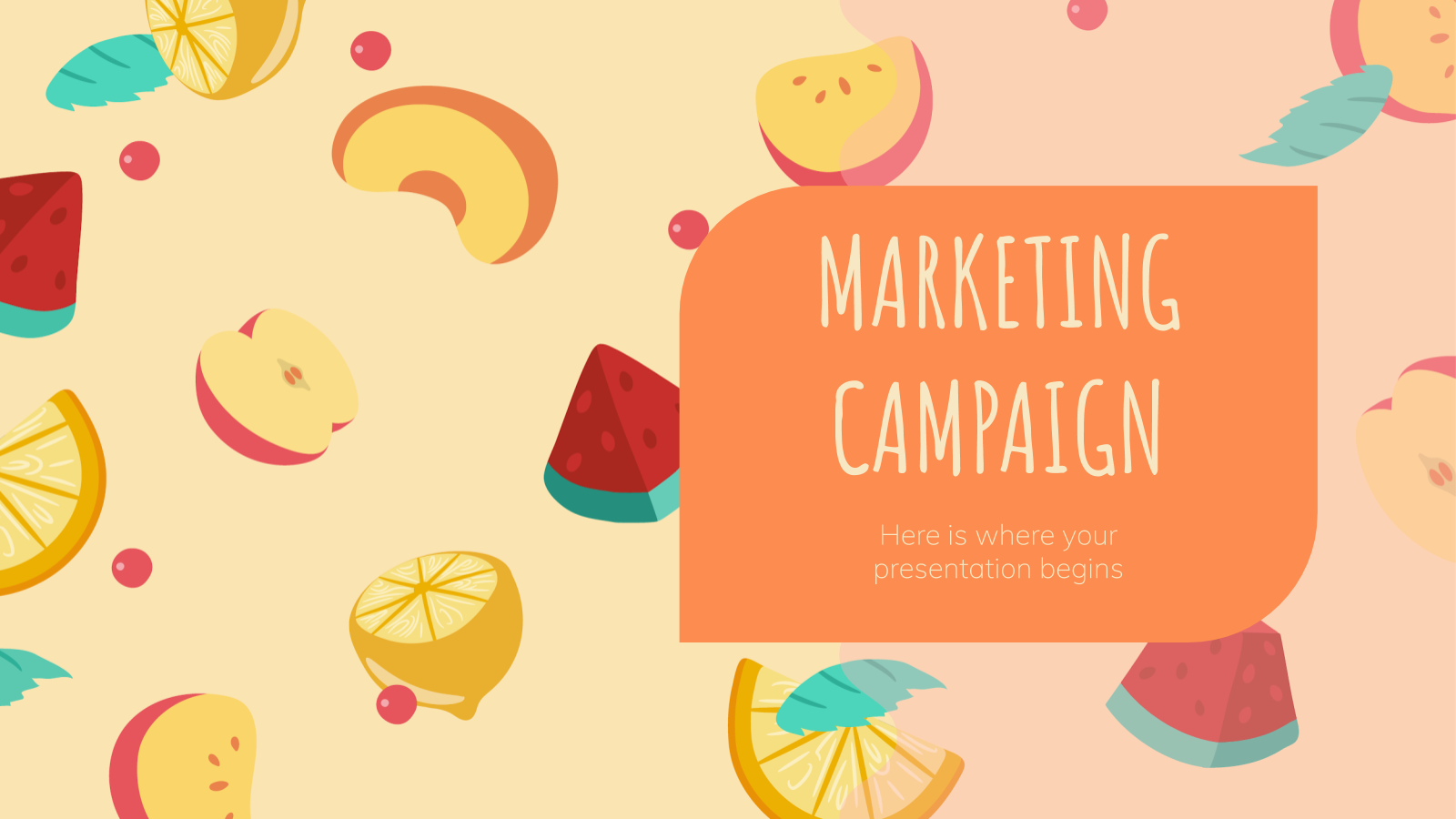 Fruits Marketing Campaign presentation template