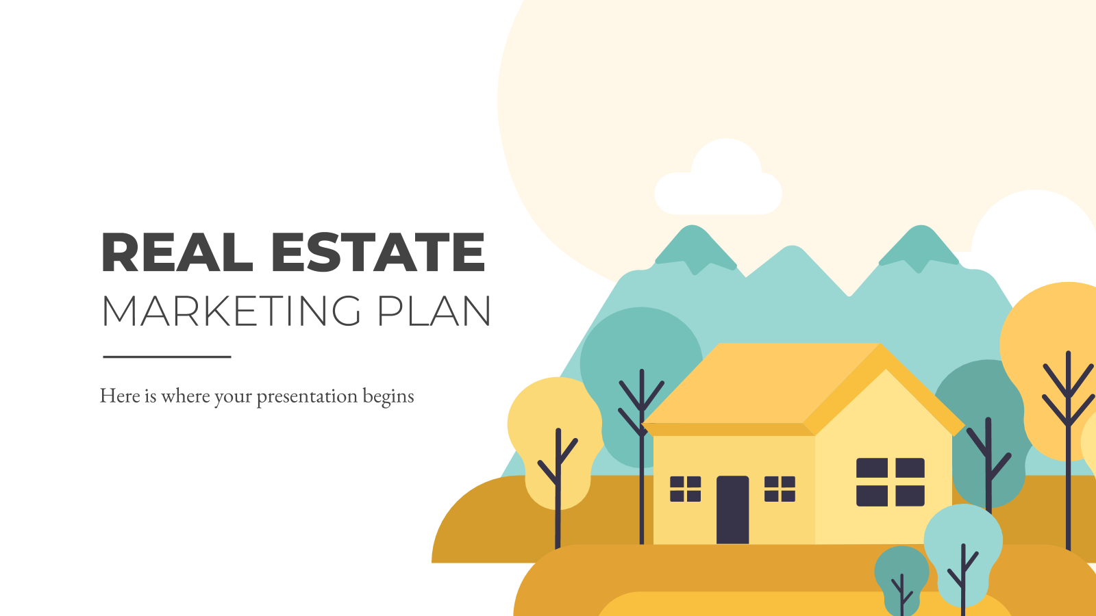 Real Estate Marketing Plan presentation template