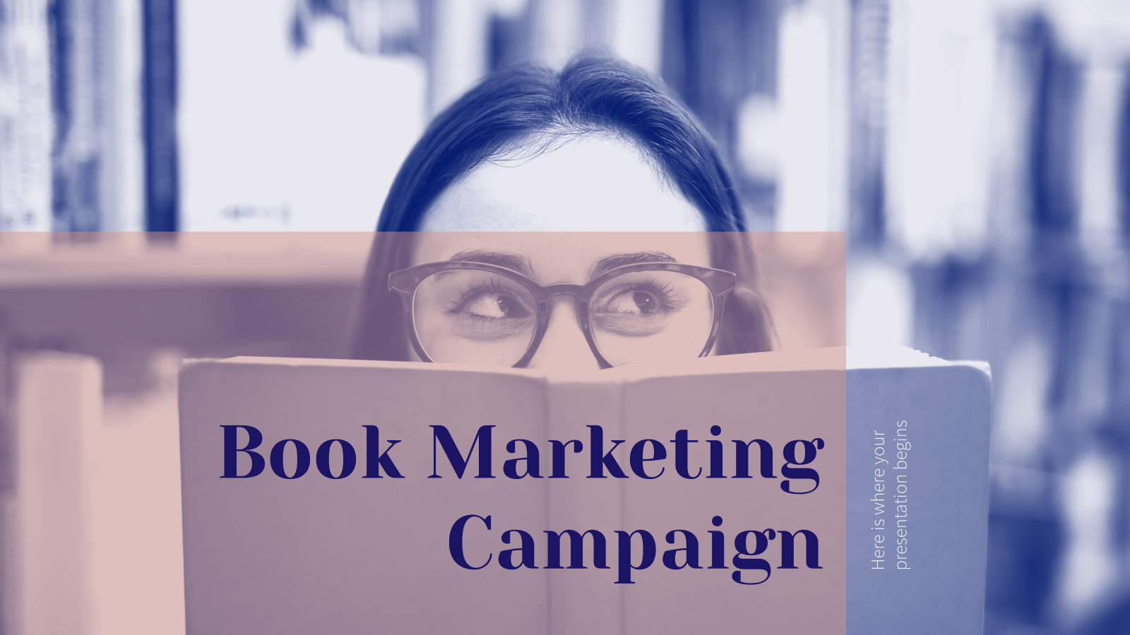 Plantilla de presentación Campaña de marketing para libros