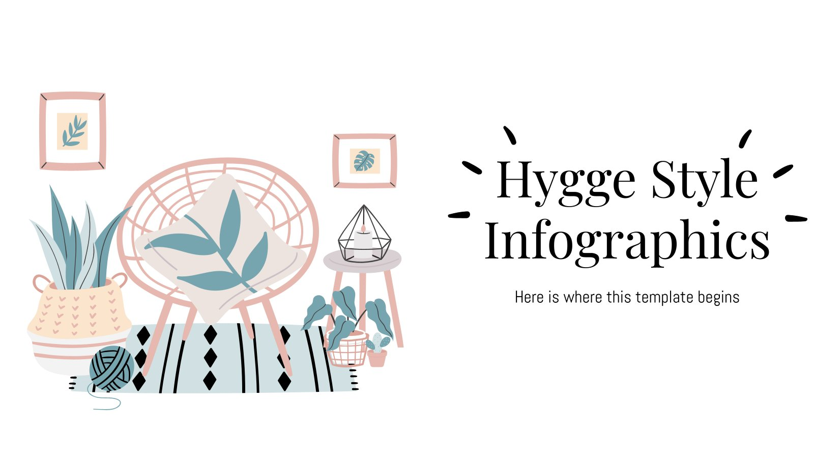 Hygge Style Infographics presentation template