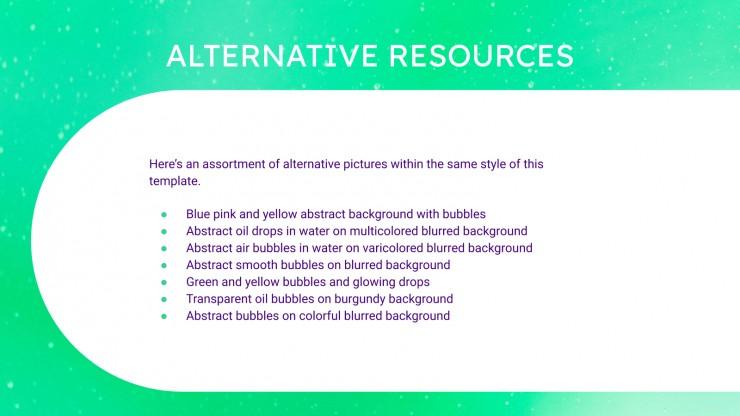 Bubbles Pitch Deck presentation template