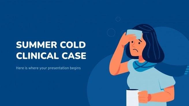 Plantilla de presentación Caso clínico de resfriado de verano