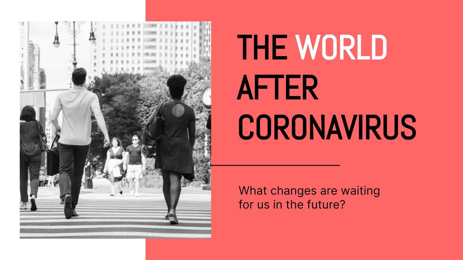 Modelo de apresentação O mundo depois do coronavírus