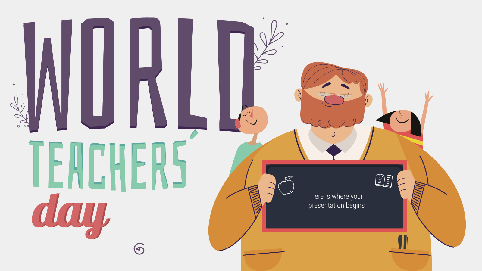 World Teachers' Day presentation template