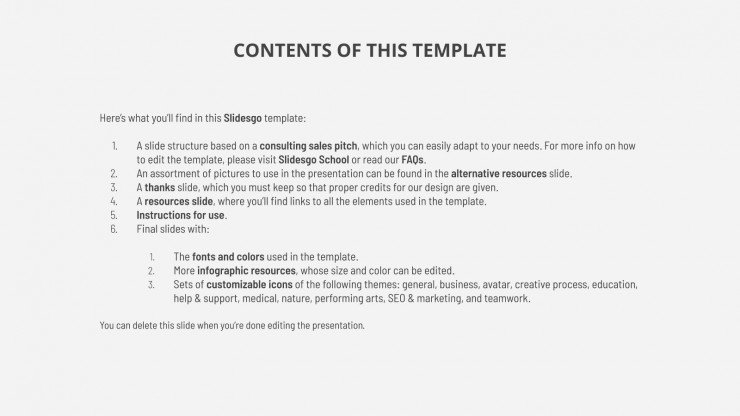 Management Consulting presentation template