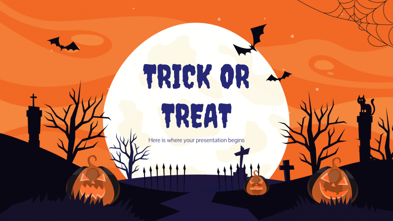 "Halloween "" Trick or treat"" - PPT Theme"