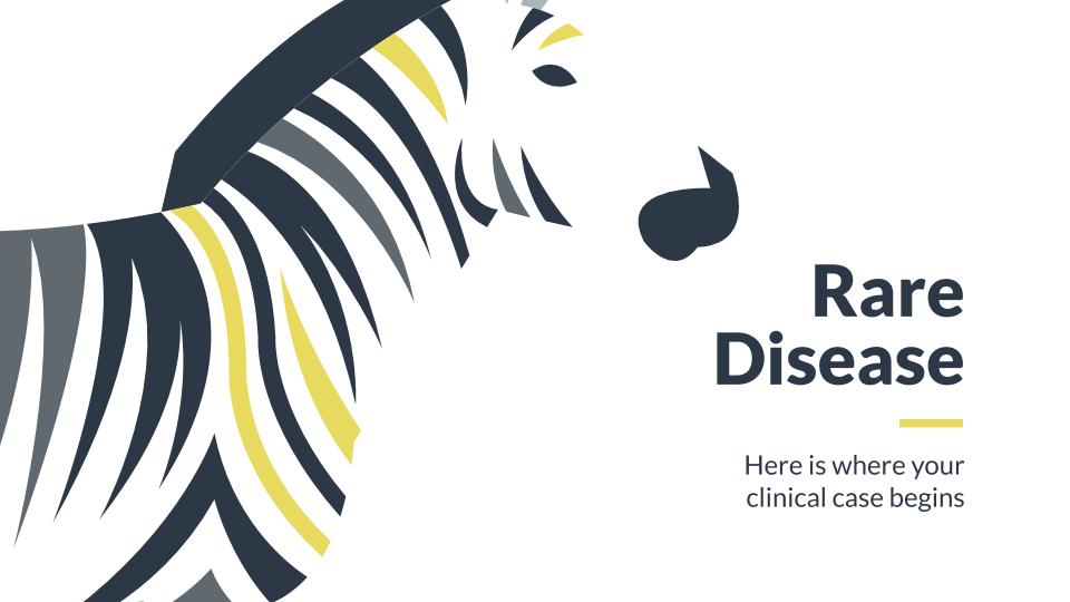 Cas clinique de maladie rare : Modèles de présentation