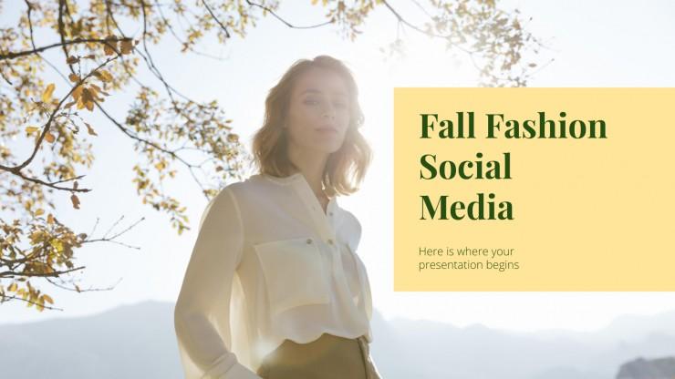 Modelo de apresentação Outono-inverno nas redes sociais