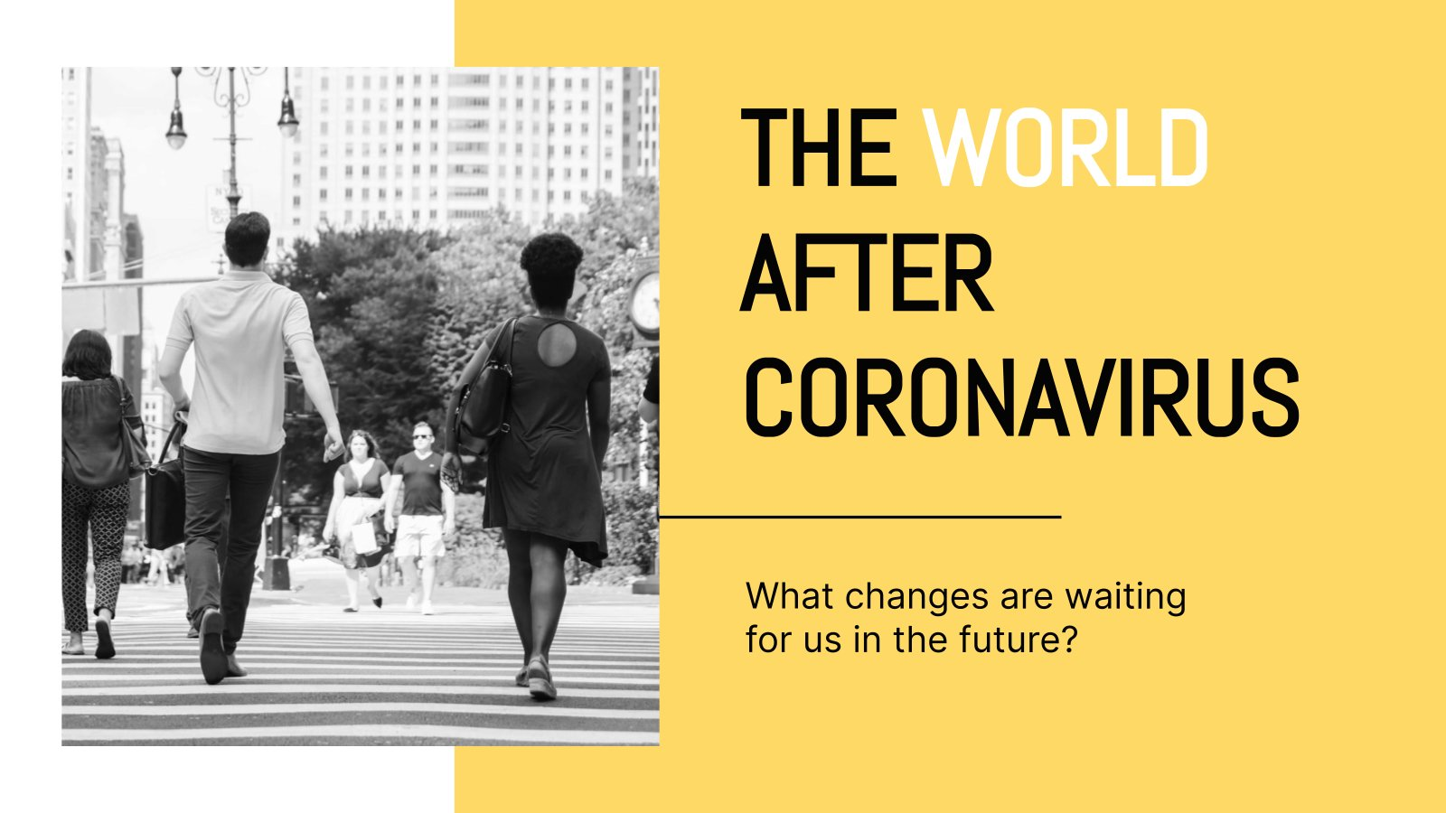 World After Coronavirus presentation template