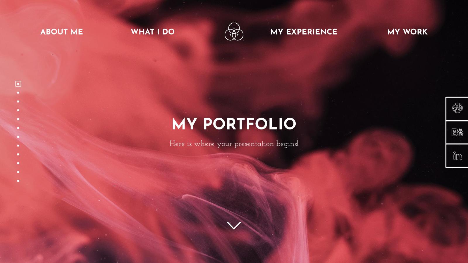 Modelo de apresentação Portfólio de web designer