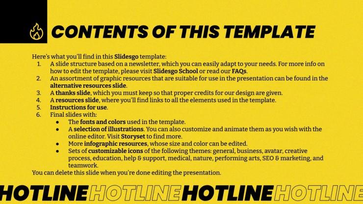 Newsletter Hotline : Modèles de présentation
