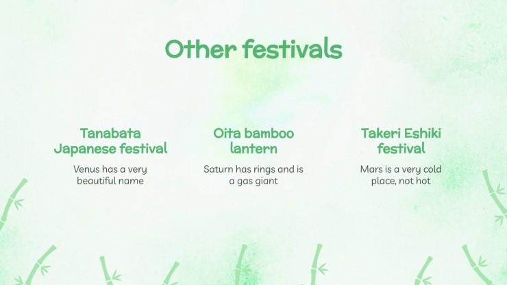 Modelo de apresentação Festival do Bambu de Damyang