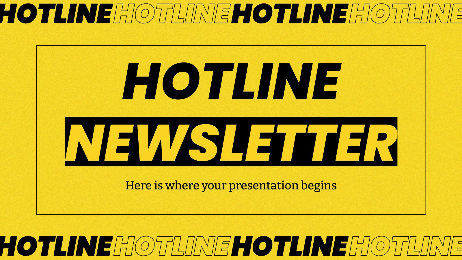 Hotline-Newsletter Präsentationsvorlage