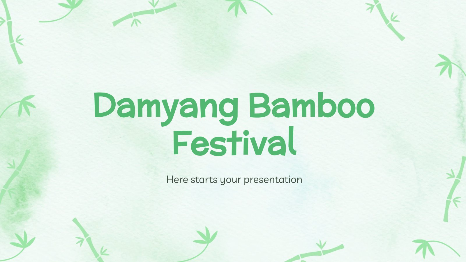 Plantilla de presentación Festival del bambú de Damyang