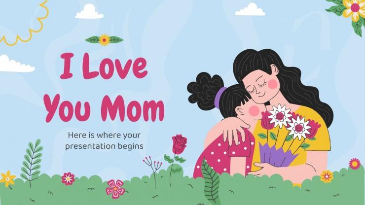 Plantilla de presentación Te quiero, mamá