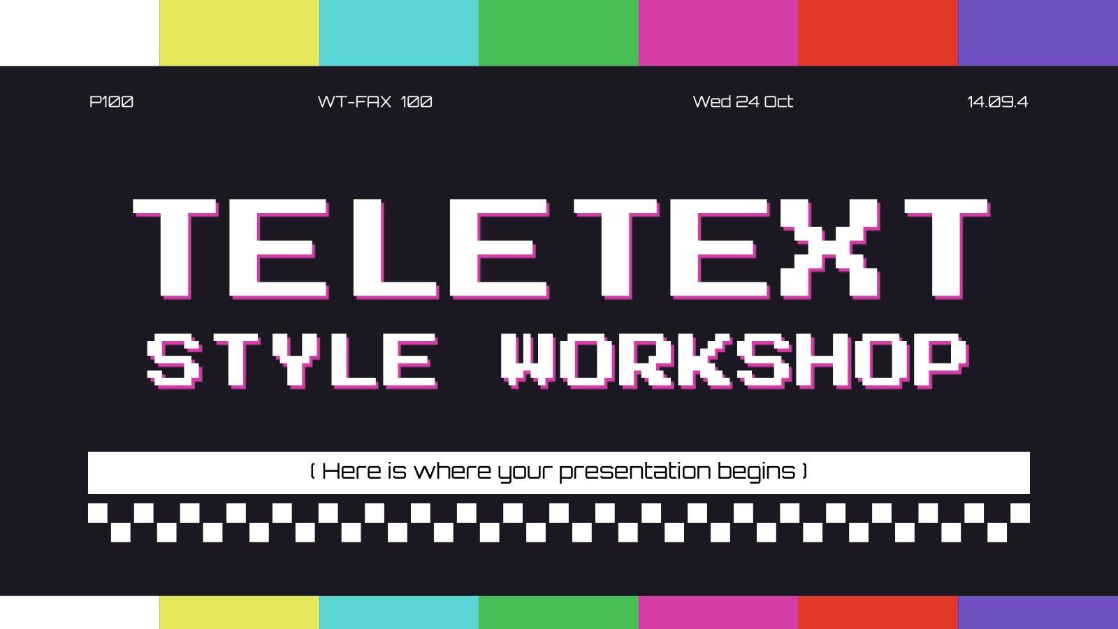 Teletext Style Workshop presentation template