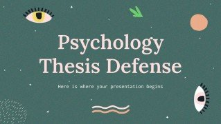 Plantilla de presentación Defensa de tesis sobre psicología