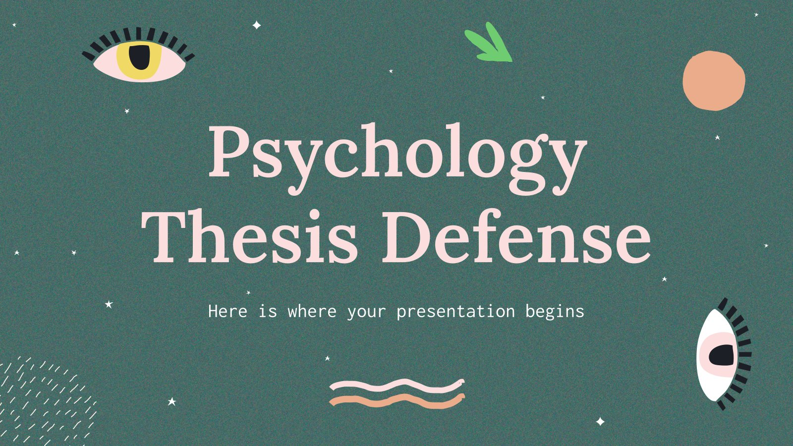 Psychology Thesis Defense presentation template