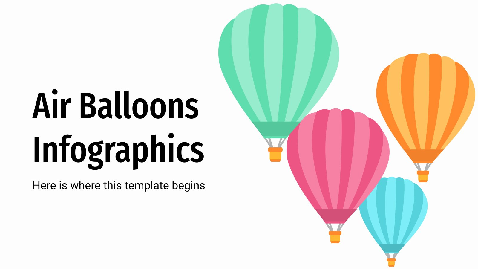 Air Balloons Infographics presentation template