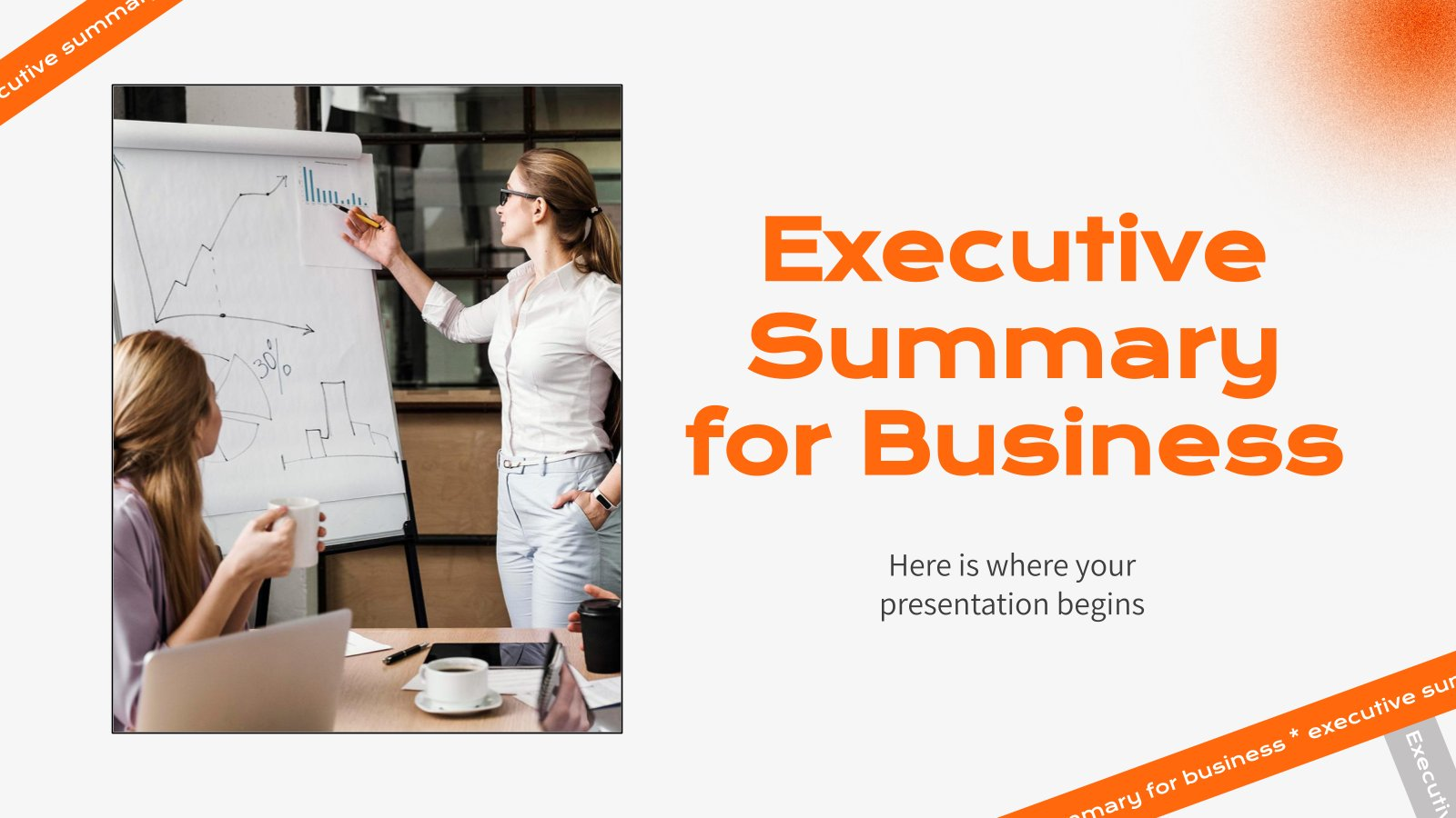 Executive Summary for Business presentation template